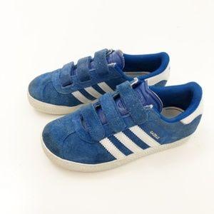 ADIDAS Blue Gazelles Velcro Sneakers, 12 1/2